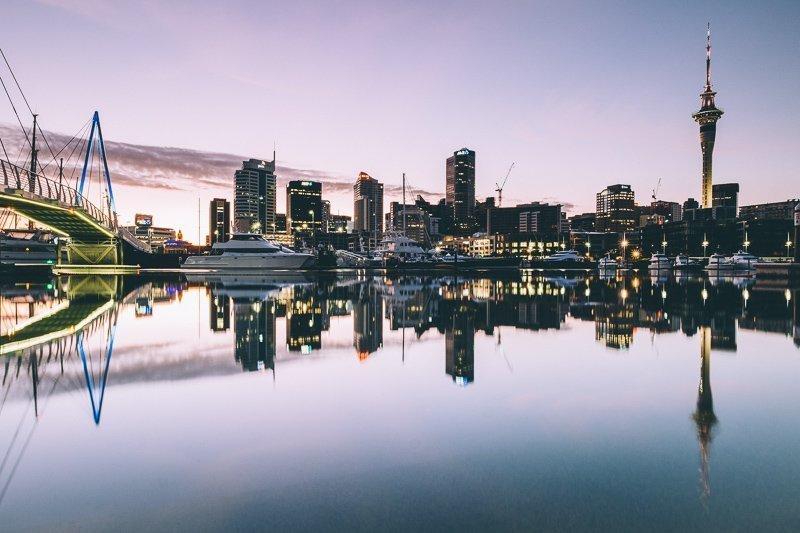 Een van de vreselijkste steden Nieuw-Zeeland is Auckland, hier op de foto te zien.