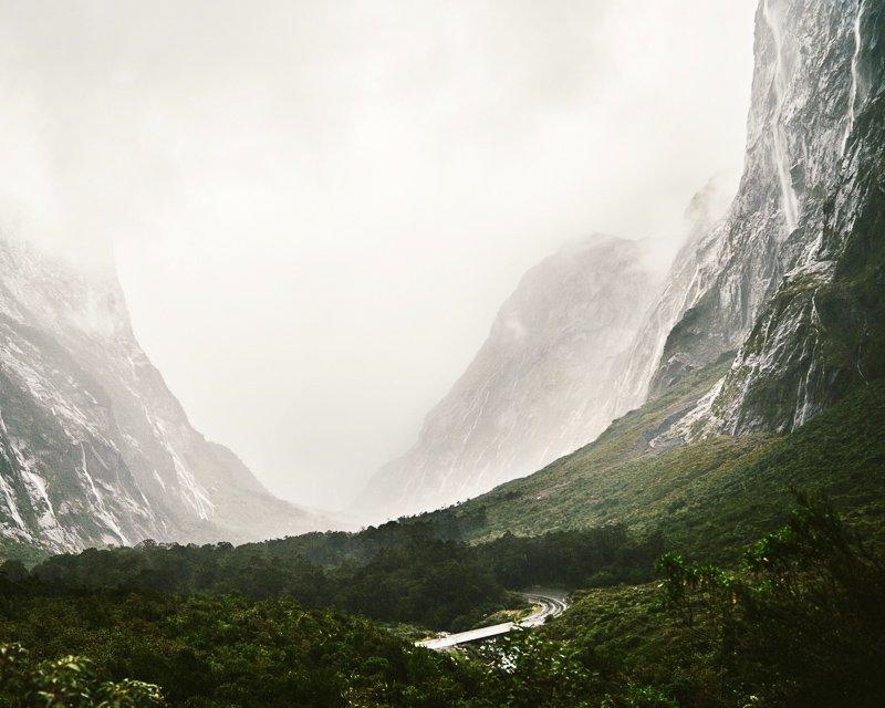 Mooie uitzichten bij Doubtful Sound Nieuw-Zeeland.