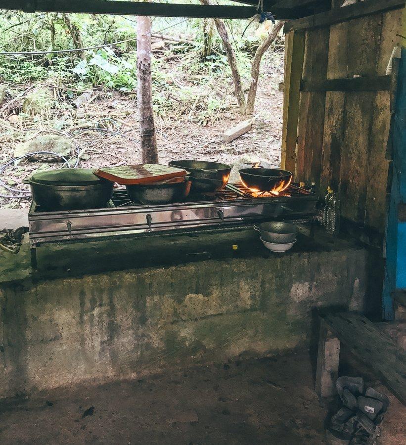 De keuken in het kamp