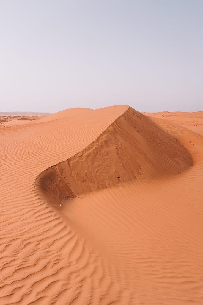 Een nacht slapen in de woestijn moet je sowieso doen tijdens je reisroute Oman.