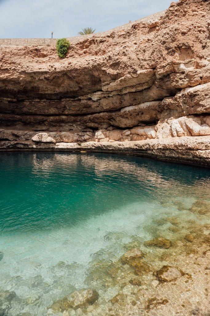 Deze sinkhole was zo mooi tijdens mijn Oman-reis.