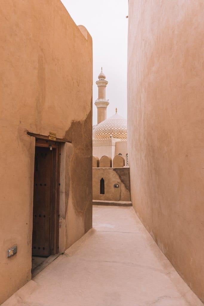 Een prachtige plekje in het fort van Nizwa.
