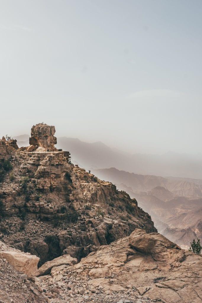 Een prachtige route door de bergen van Oman.