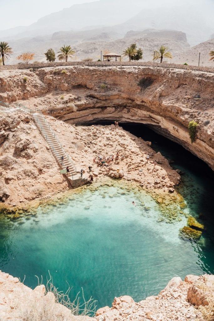De Bimmah Sinkhole is een prachtige plek!