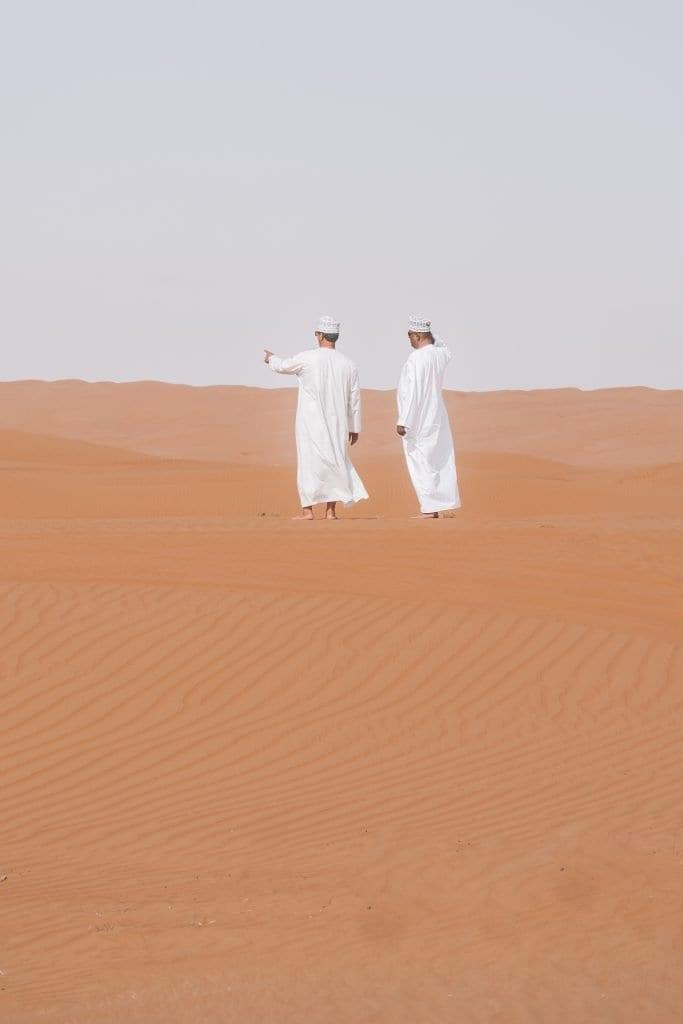 Bij je reisroute Oman mag je een dagje woestijn niet overslaan.