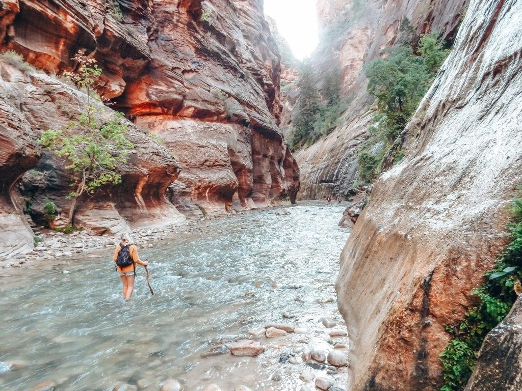 Zion National Park mag dan wel heel druk zijn, het is wel een van de mooiste nationale parken van West-Amerika.