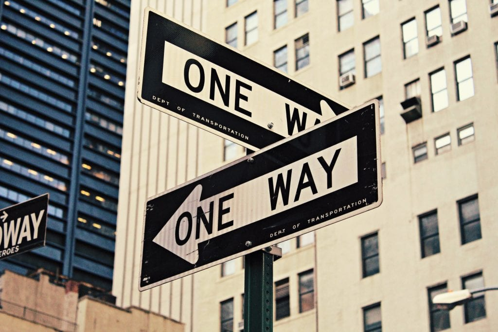 De weg vinden in New York is heel gemakkelijk.