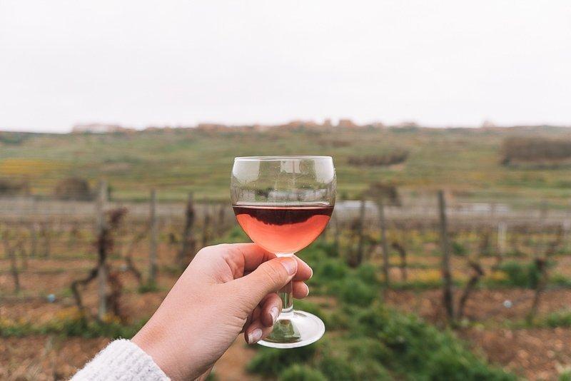 Doe een wijnproeverij in Gozo, Malta.