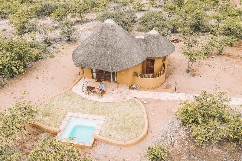 Where you sleep in the Mopane Bush Lodge.