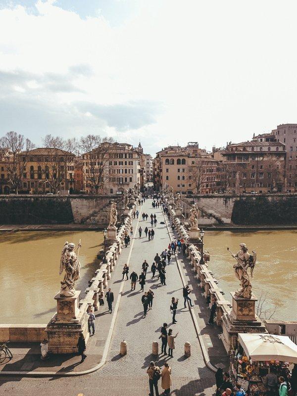 Ook de Engelenburcht is een echte highlight van Rome.