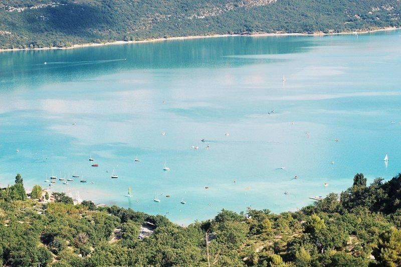 Ook kun je zwemmen in het meer bij Gorges du Verdon, genaamd Lac de Sainte-Crox.