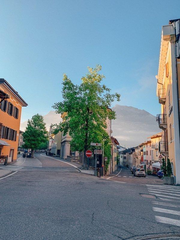 Het centrum van Levico Terme is ontzettend prachtig.