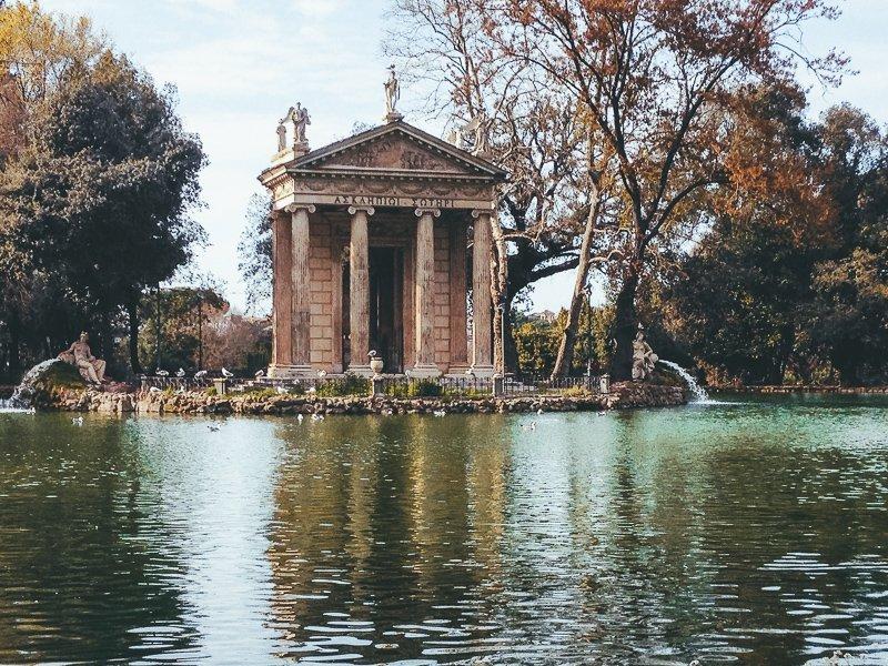 Villa Borghese is een plek waar je lekker kunt ontspannen.