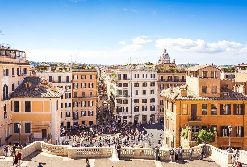 De Spaanse trappen vormen een echte highlight in Rome.