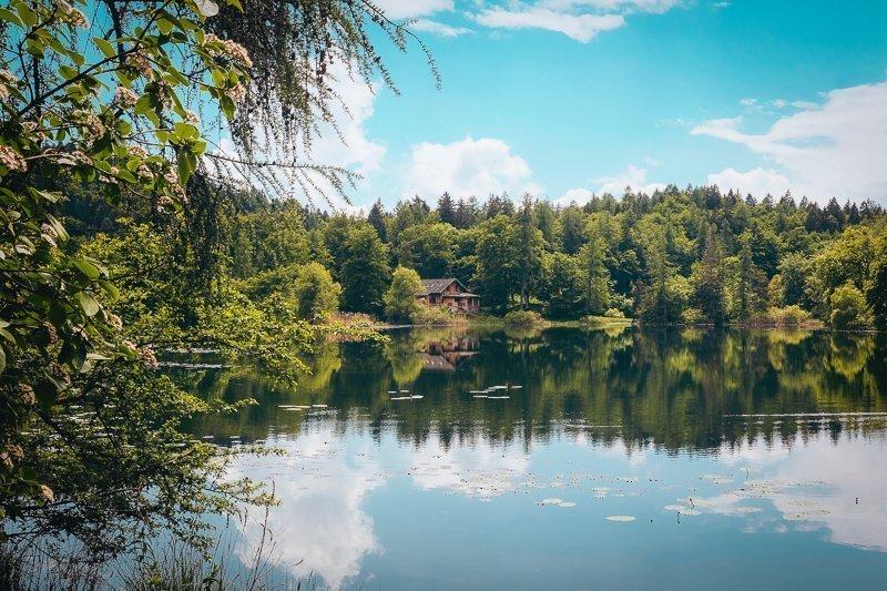 Bij Lake Cei kun je in de zomer heerlijk relaxen.