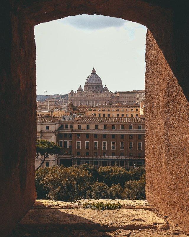 Het uitzicht vanaf de Engelenburcht in Rome.