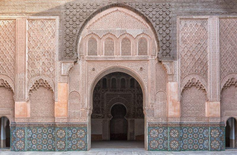 Ben Youssef is een van de belangrijkste bezienswaardigheden in Marrakech.