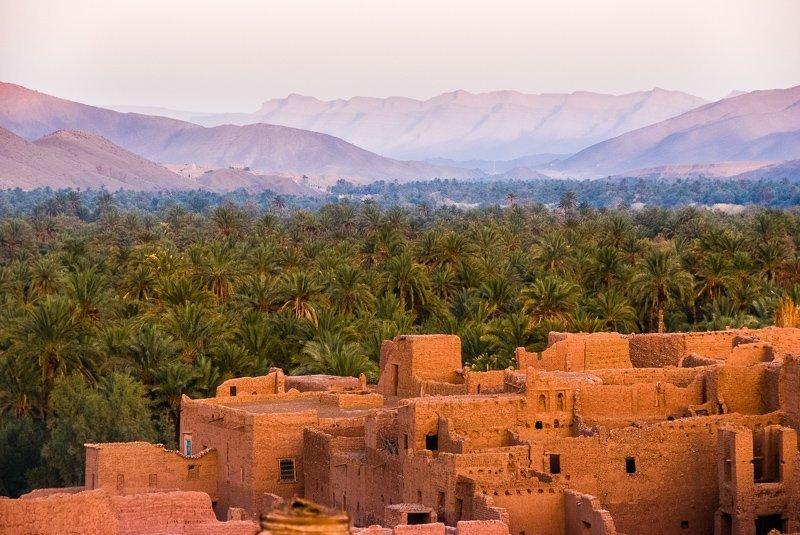 Ait Ben Haddou met zijn prachtige landschap.