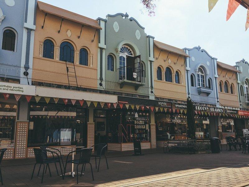 New Regent Street, het bekendste straatje van Christchurch. Helaas wel de enige leuke straat, want Christchurch zelf vind ik een van de minder leuke steden in Nieuw-Zeeland.