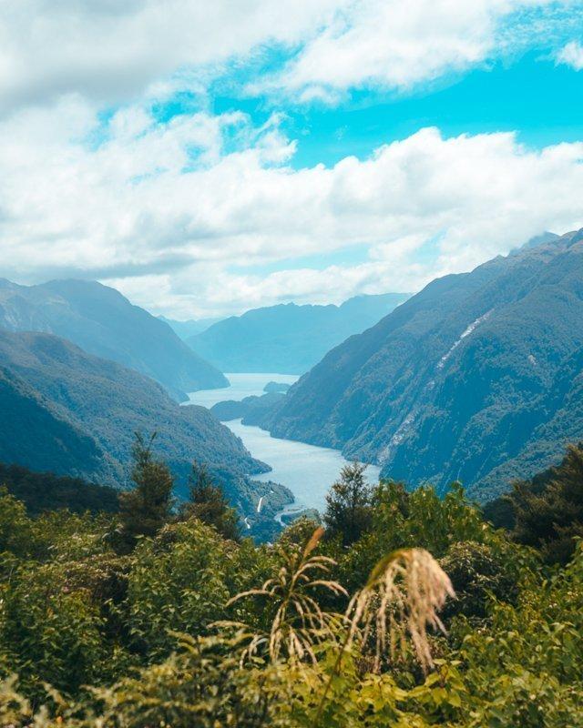 Een prachtig uitzicht in Doubtful Sound.
