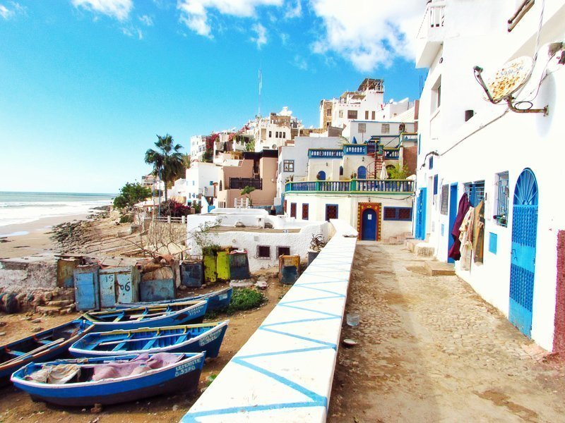 Dit is waarom je naar Marokko moet gaan: alle kleurrijke huisjes, zoals op deze foto.