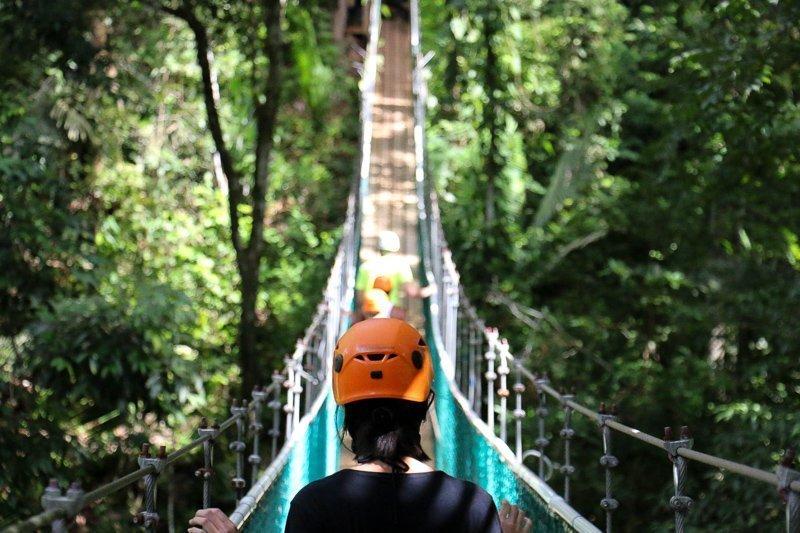 Belize kent een tropisch regenwoud.