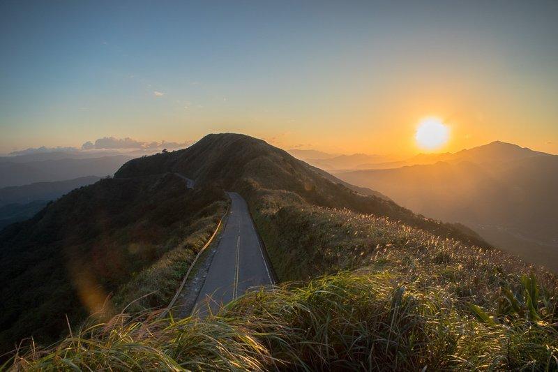 Zonsondergang in Taiwan, prachtig!