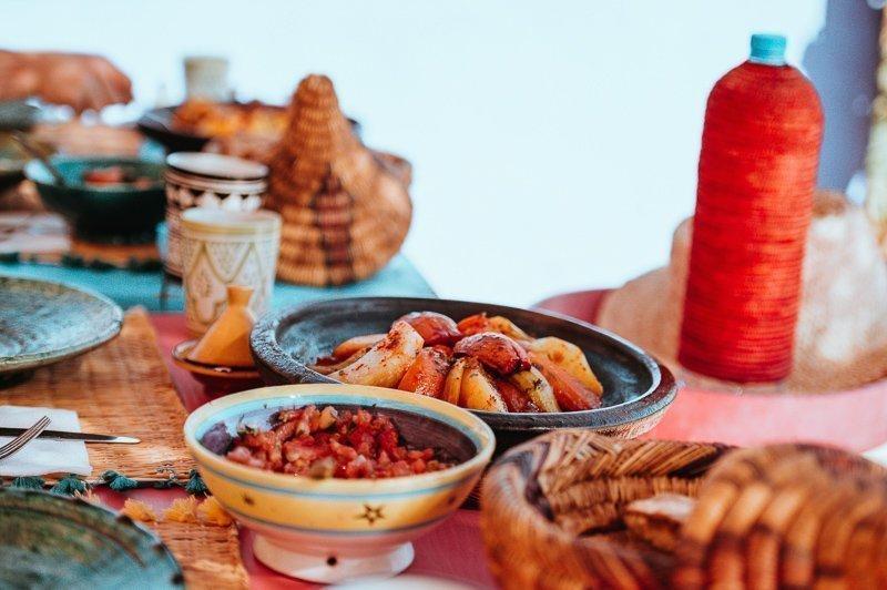 Heerlijk eten in Marokko!