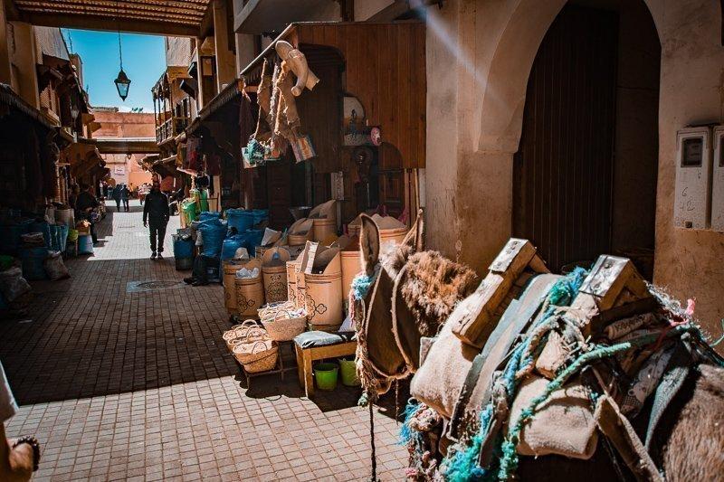 De souks is een van de belangrijkste bezienswaardigheden in Marrakech.