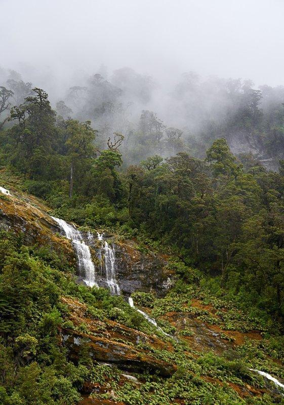 In Nieuw-Zeeland vind je tal van watervallen.