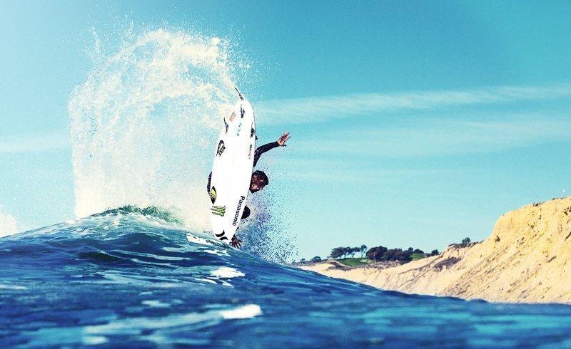 Je kunt er ontzettend goed surfen.