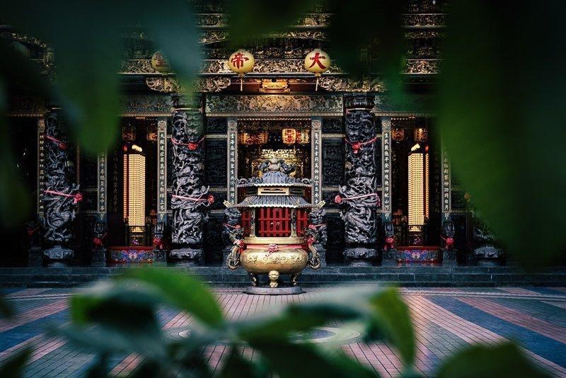 In Taiwan vind je geweldige tempels, zoals deze.