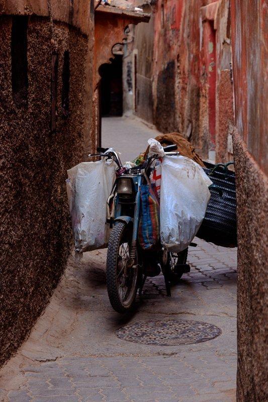 De medina van Marrakech.