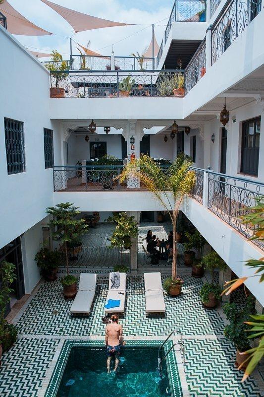 De riads zijn an sich al gave bezienswaardigheden in Marrakech.