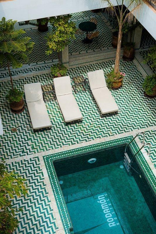 Dit is een van de mooiste riads van Marrakech.
