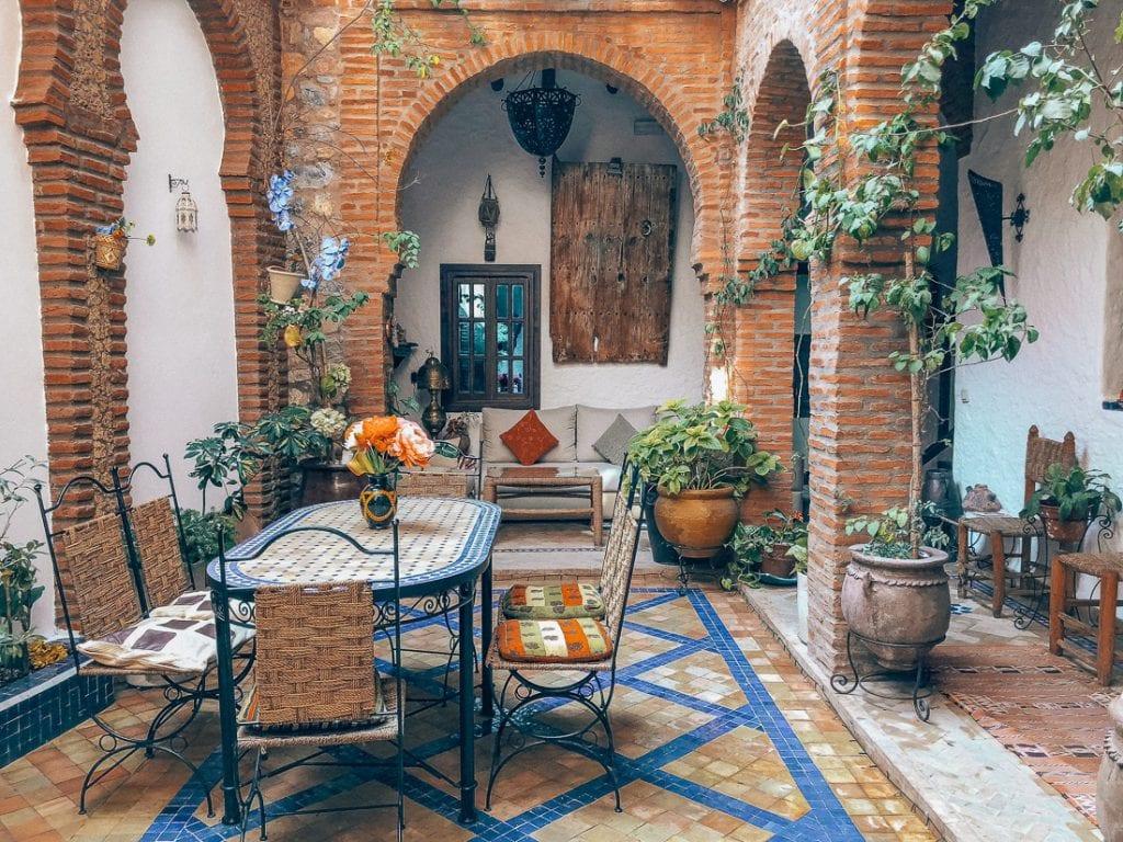 De riads in Marrakech zijn prachtig.