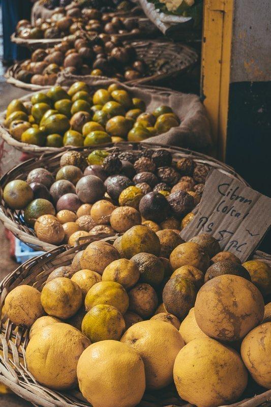 De lokale markt in Port Louis.