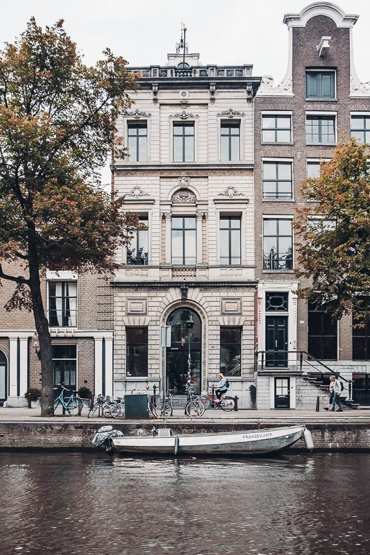 You'll see gorgeous buildings during your two days in Amsterdam