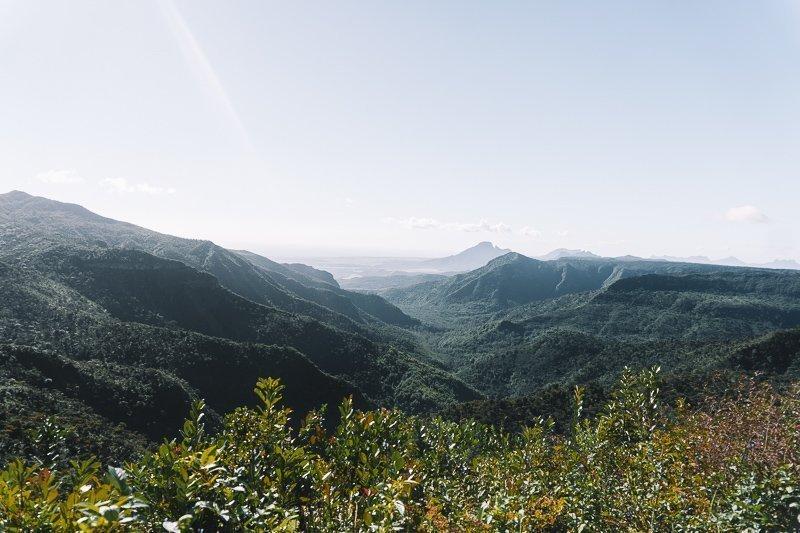 Prachtige uitzichten bij Black River Gorge National Park.