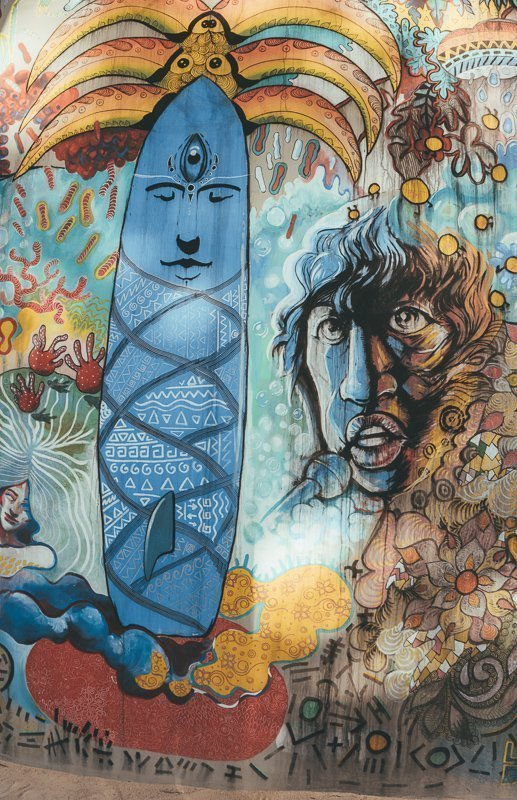 Street art, ook een van de toffe Mauritius bezienswaardigheden.