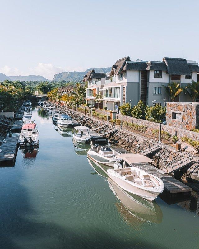 Mooie bootjes in Mauritius.