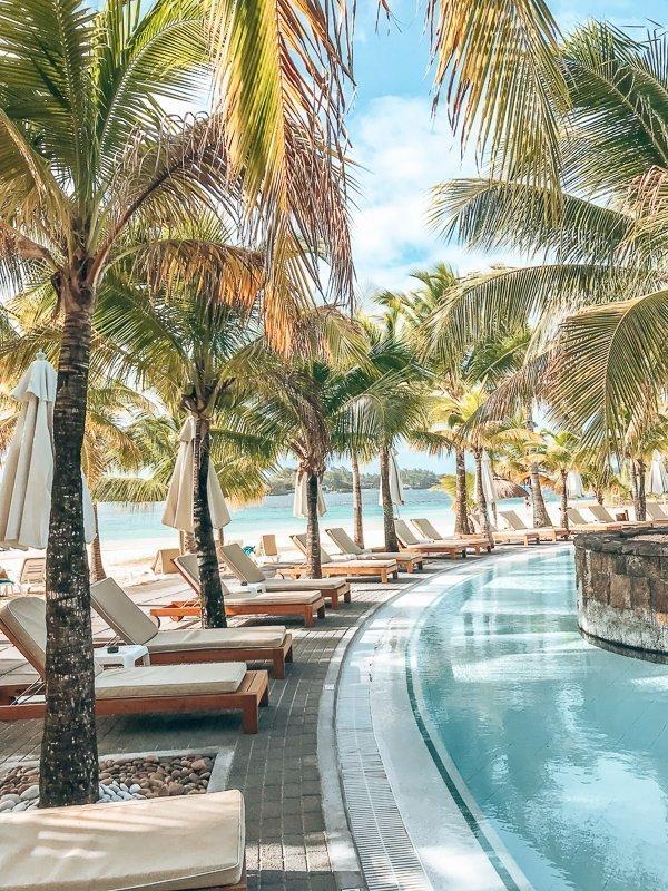Een heerlijk resort op Mauritius eiland.