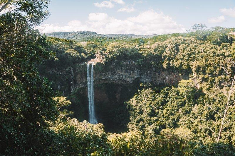 Prachtige watervallen op Mauritius.