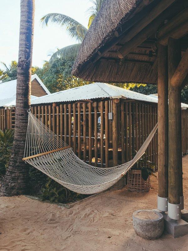 Een van de Mauritius highlights: lekker relaxen in een hangmat.