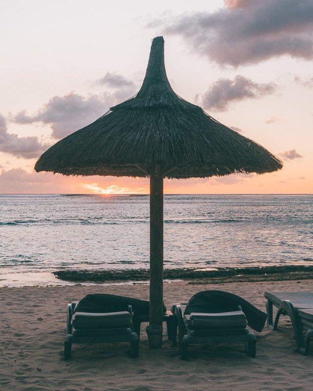 Heerijk relaxen op Mauritius.