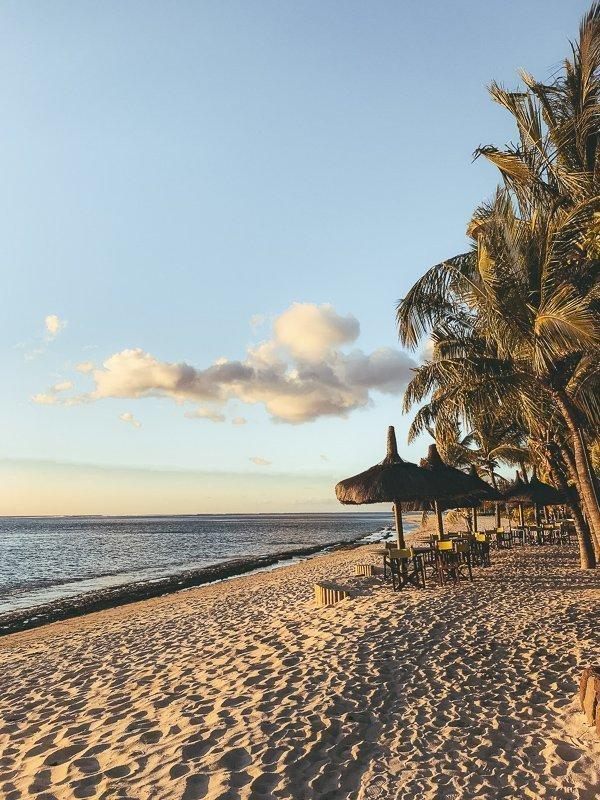 Heerlijke uitzichten aan het strand.