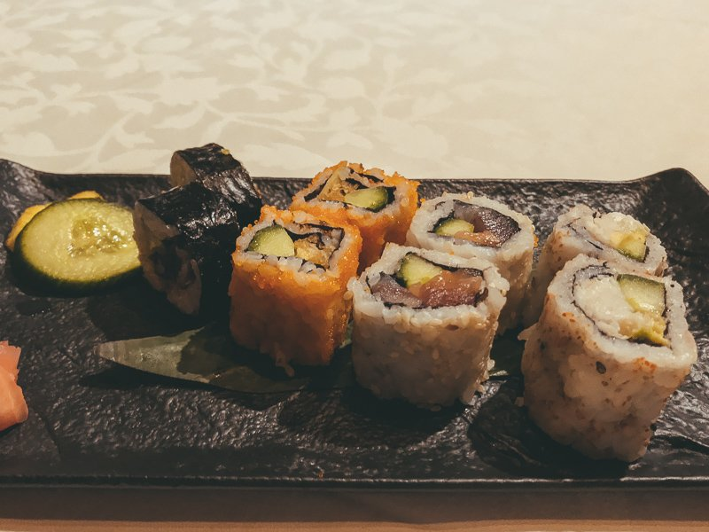 Sushi in Mauritius.