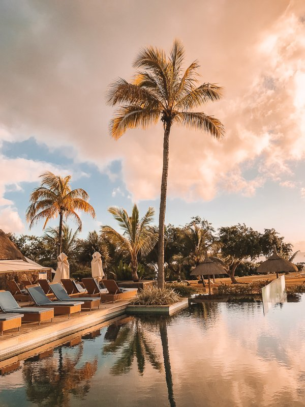 Zonsopgang in Mauritius.