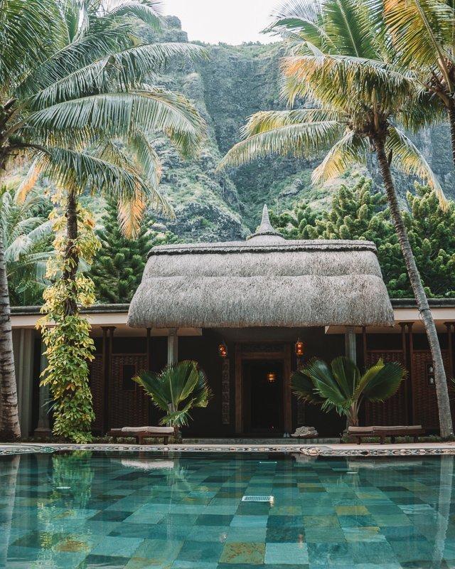 De resorts op Mauritius eiland zijn prachtig.