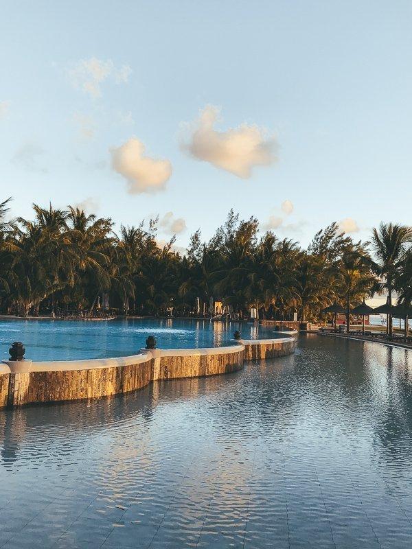 De zwembaden in Mauritius zijn om bij weg te dromen.